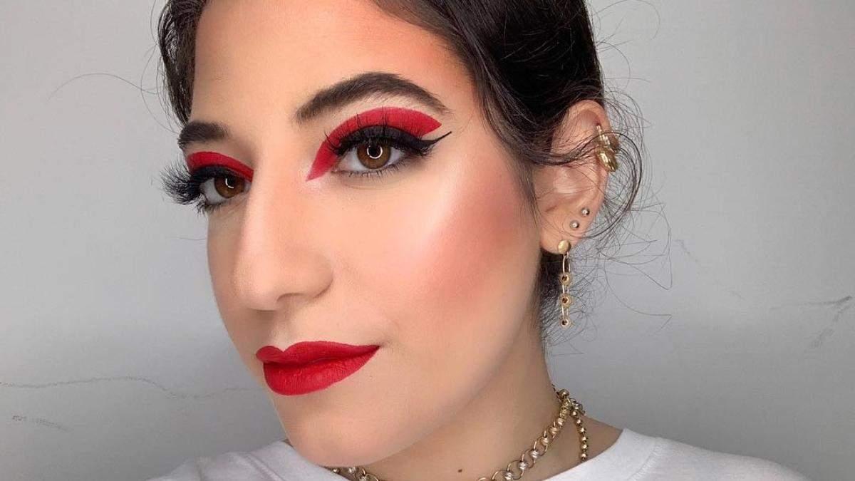 Осенний бьюти-тренд: макияж глаз в бордово-виновных тонах