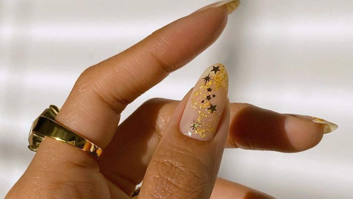 Маникюр на Новый год 2021: на короткие и длинные ногти, с символом быка, в праздничных цветах