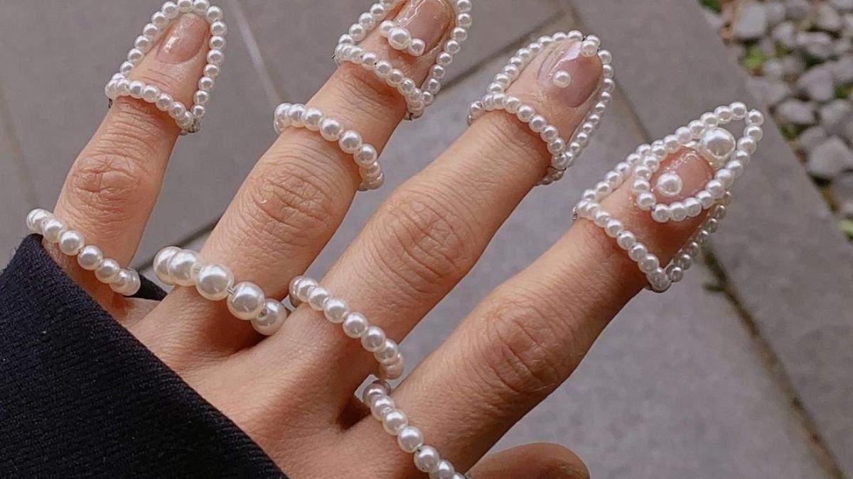 Маникюр с украшениями для ногтей: для разнообразия – фото