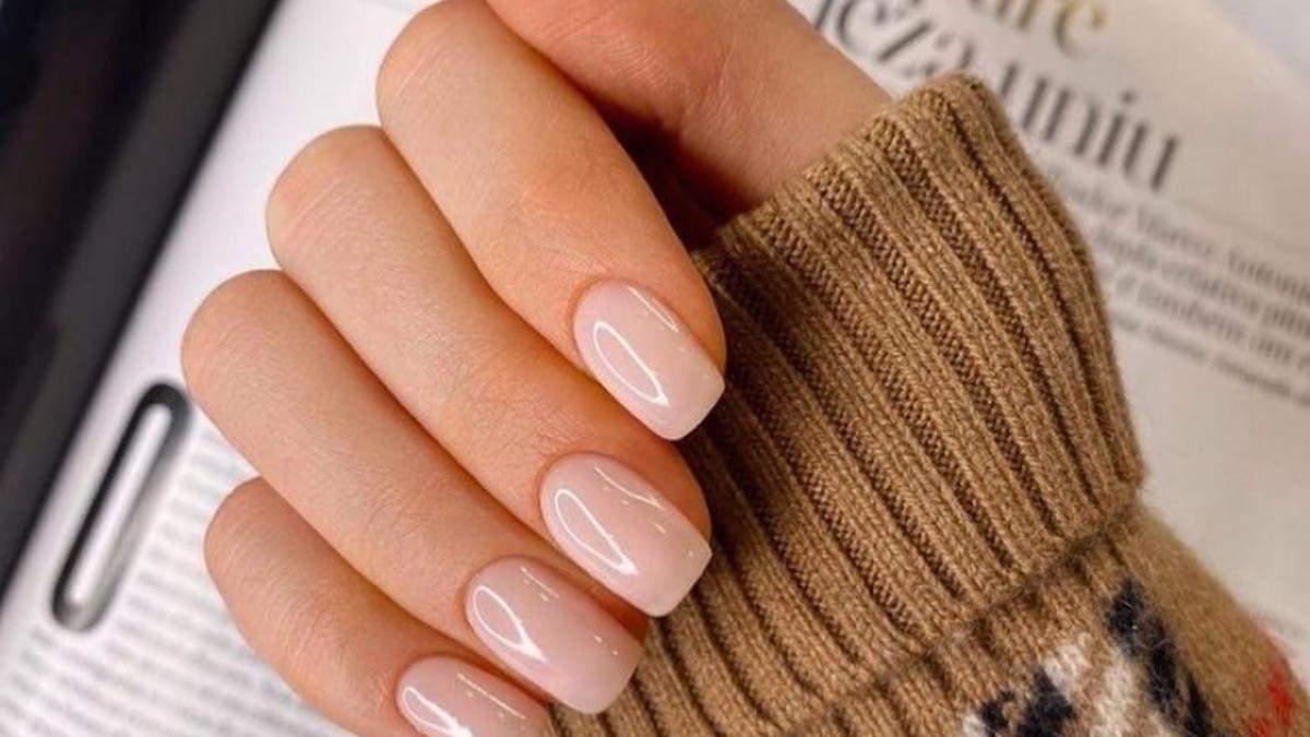Манікюр 2021 в нюдових відтінках на довгі та короткі нігті: фото