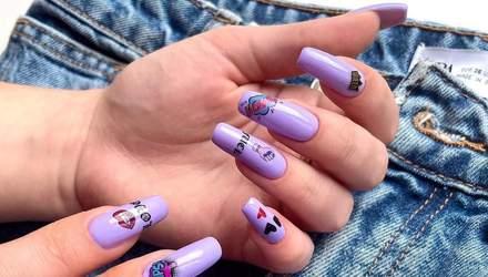 Лаванда, глэм-рок и другие: модные оттенки фиолетового для весеннего маникюра