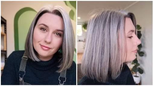 Дівчина приховувала сивину з 15 років: як їй вдалось відмовитись від фарбування – фото